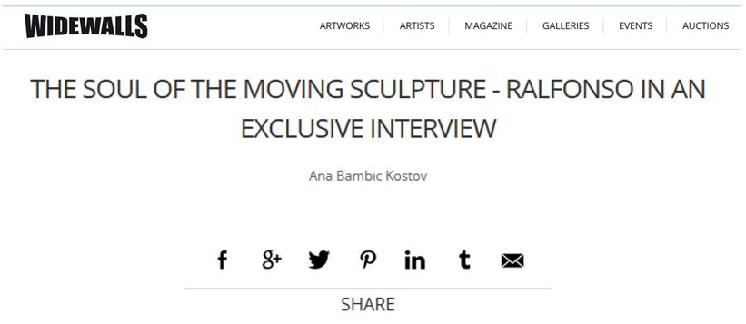 Swiss WIDEWALLS Interview Covers Ralfonso's Journey From Monumental to Limited Series Small Sculptures